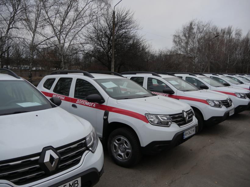 Сільські амбулаторії Донеччини отримали 23 автомобілі